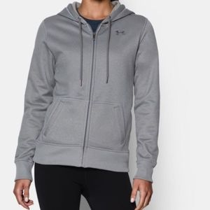 UNDER ARMOUR Storm Semi-Fitted Gray Zip Hoodie
